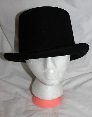 Vintage Berger-Schwartz Hat Co. Los Angeles Ca Usa Men s Black Felt Top Hat 37956a278a11