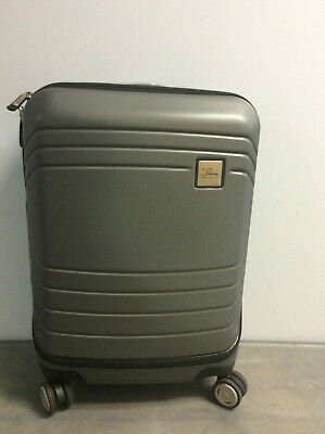 Skyway Luggage Cascadia Carry-On Gray  Expandable Spinner Dual Wheel System
