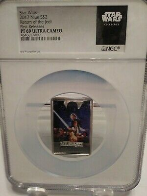2017 Niue Star Wars Posters - Return Of The Jedi 1oz Silver NGC PF69 Coin