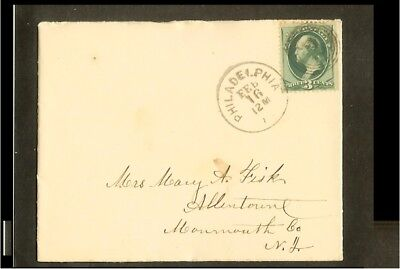 [OG089_10] 1880 - USA letter from Philadelphia to Allentown (NJ)