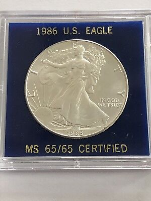 1986 American Silver Eagle One BU 1 Troy Ounce .999