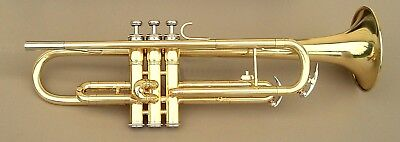King 600 restored trumpet with case,  7C mouthpiece, valve oil and marching lyre