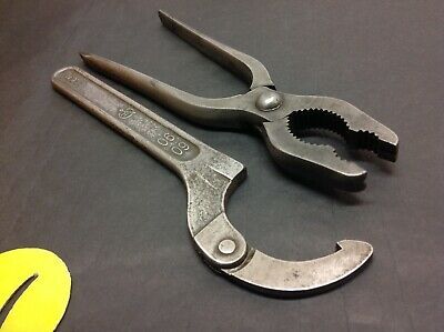"""9"""" Spanner Hook & H/D Pipe Grips.Old Tools."""