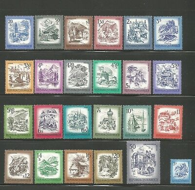 Austria stamps. Lot of 24 Austria scenic issues of 1973-78 VF MNH