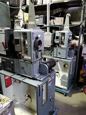 Pair of 35mm Film Simplex Projectors Change Over Ready 2000 Watt Xenon Lamphouse