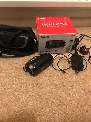 Canon Legria HF R506 Full HD 1920x1080 Camcorder (with 16GB card and bag) BOXED