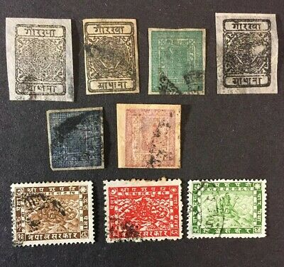 Early Nepal Stamp Lot - Unchecked!
