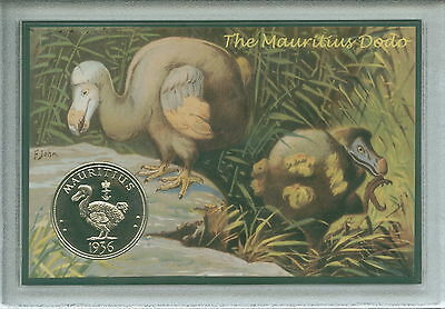 Extinct Mauritius The Dodo (as dead as) Bird Ornithologists Crown Coin Gift Set