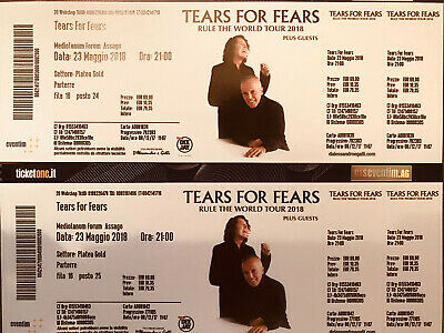 TEARS FOR FEARS Concerto 23/02/2019 Forum di Assago Milano
