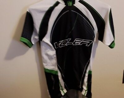 Voler Men s Medium Raglan blk Green white Cycling Jersey Short Sleeve 9409bf1b7
