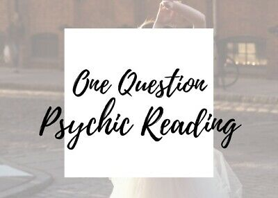 One Question Psychic Reading   PDF email, 24 hours, same day, detailed