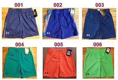 New Under Armour Heatgear Boys Shorts Sizes 2T, 4, 5, 6 Msrp $17.99-21.99-24.99