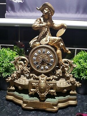 Antique 1885 French Spelter Mantle clock