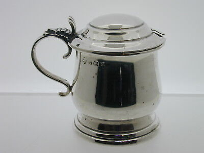Vintage sterling silver mustard pot 1930 no spoon 84.9 grams 63.5 mm tall