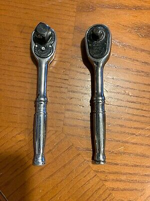 """Snap-On FM70A 3/8"""" Dr Short Handle Ratchet and T936 1/4"""""""
