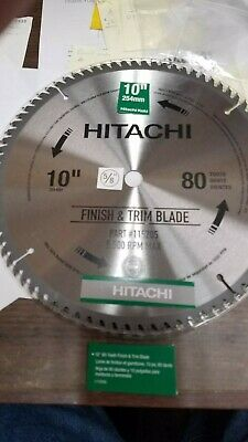 "Hitachi 10"" Saw Blades,   80 Tooth TUNGSTEN CARBIDE TEETH, 5/8"" Center Hole NEW"