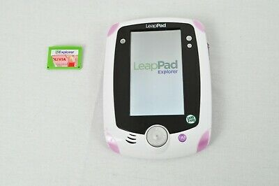 LeapFrog LeapPad Learning Tablet System Pink Plus One Game Used TESTED