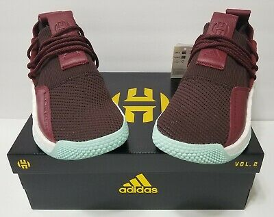 b386bc8706dc NEW ADIDAS JAMES HARDEN LS 2 LACE CG6277 MEN S Red Maroon Clear Mint ...