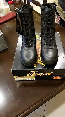 """ce09dcf5df5 THOROGOOD MENS 11 M Force Recon Black Leather Vibram Sole Combat Boots 9""""  Tall"""