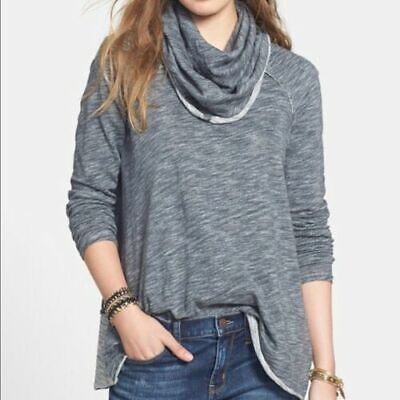e7cefb803e Free People FP Beach One Body One Size Gray Cocoon Cowl Neck Pullover  Sweater