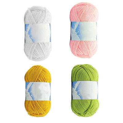 1 Skein 50/100g Soft Worsted Cotton Chunky Super Bulky Hand Knitting Yarn