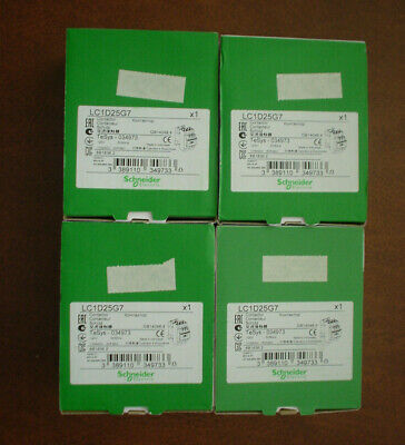 Lot of 4 Schneider Electric LC1D25G7 Contactors