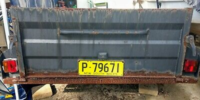 box trailer 7x4 high sides Mario 2003 rusty with rusted out tray