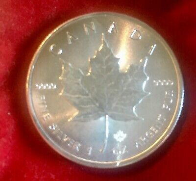 1 oz Silver $5 Maple Leaf Coin, 2015-Mint Condition