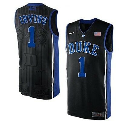 96e9aa91b8f6 Kyrie Irving Duke Blue Devils  1 Adult Stitched Basketball Jersey - Black