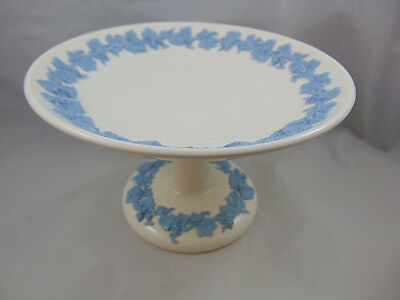 Wedgwood Embossed Queensware Lavender on Cream Compote