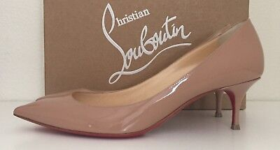 59f88cad4845 Christian Louboutin Decollete 70mm Nude Patent Pumps Size 39 pointy NIB  695