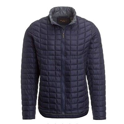 Ben Sherman Men's Quilted Lightweight Down Jacket Navy Green Black
