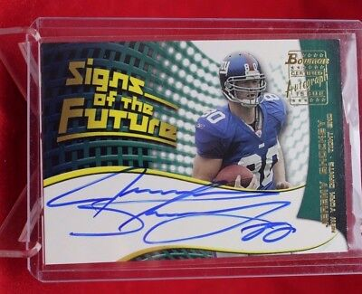 df8a5d719 Jeremy Shockey 2002 Bowman Sign of the Times Autograph Rookie New York  Giants