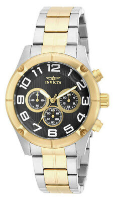 Invicta Specialty 15370 Men's Round Black Chronograph Analog Gold Tone Watch