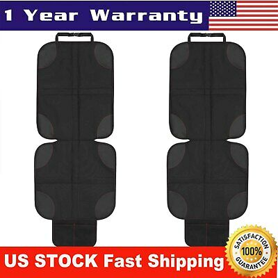 NEW Car Seat Protector Cover 2 Pack Black 2019 Deluxe Model Best Child Seat Pad