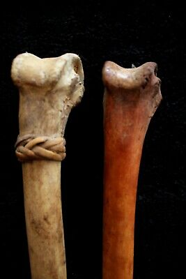Pair of Old Bone Daggers - Highlands PNG 1970's