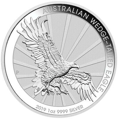 2019 Wedge Tailed Eagle 1oz Silver Coin with Capsule Brilliant Uncirculated