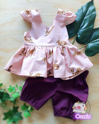 7db99a061 UK KIDS BABY Girls Easter Bunny Tops Dress Pants Leggings Outfits ...