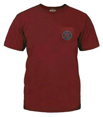 Harley-Davidson Men's Screaming Tires Chest Pocket T-Shirt, Red 5L38-HF4P (S)