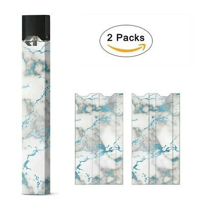 juul skin decal vinyl wrap sticker /2 pack/ blue marble /brand new