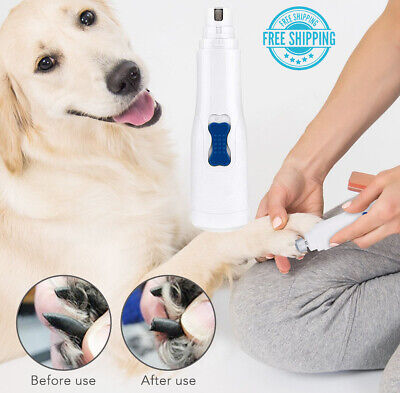 Professional Electric Pet Cat Dog Nail Trimmer Grinder Clipper Grooming Tool Set