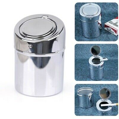 Stainless Steel Movable Ashtray Car Travel Cigarette Ash Holder Cup with Lid