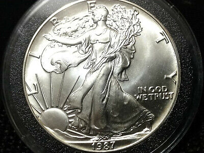 1987 American Silver Eagle - Brilliant Uncirculated