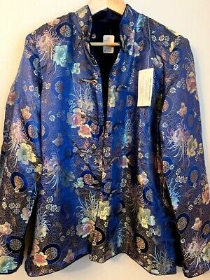 Men's Traditional Chinese Styled Reversible Blue Jacket (New with Tag, Size L)