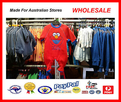 AUS WHOLESALE BABY KIDS CLOTHING 50PC Elmo Romper Coverall MYER RP $21.99