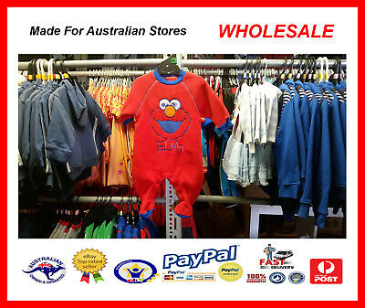 AUS WHOLESALE BABY KIDS CLOTHING Elmo Romper Coverall MYER STOCK *From $4*
