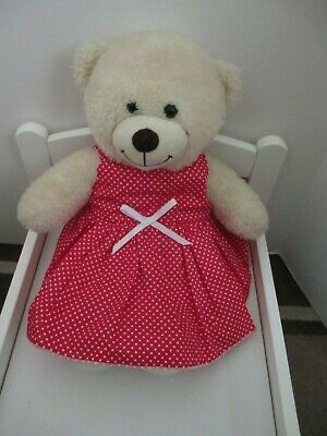 "DRESS  suitable Build a Bear  ""Red with White Spots  "" FREE POST"