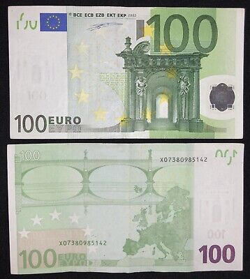 100 EURO - (1) 100 EUR Lightly Circulated Banknote in Excellent Condition