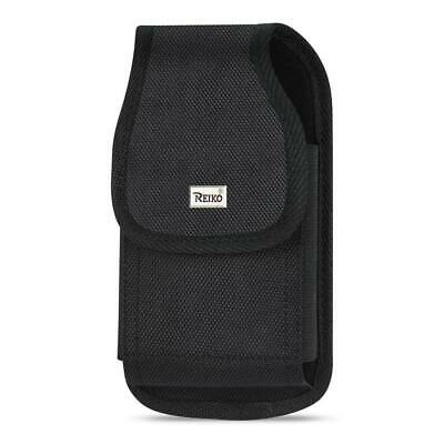 Reiko Vertical Rugged Pouch With Metal Belt Clip In Black (6.6X3.5X0.7 Inches)