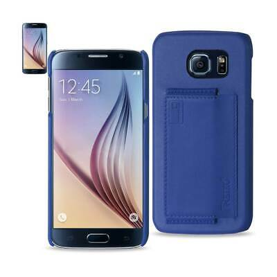 Samsung Galaxy S6 Rfid Genuine Leather Protection And Key Holder In Ultramarine